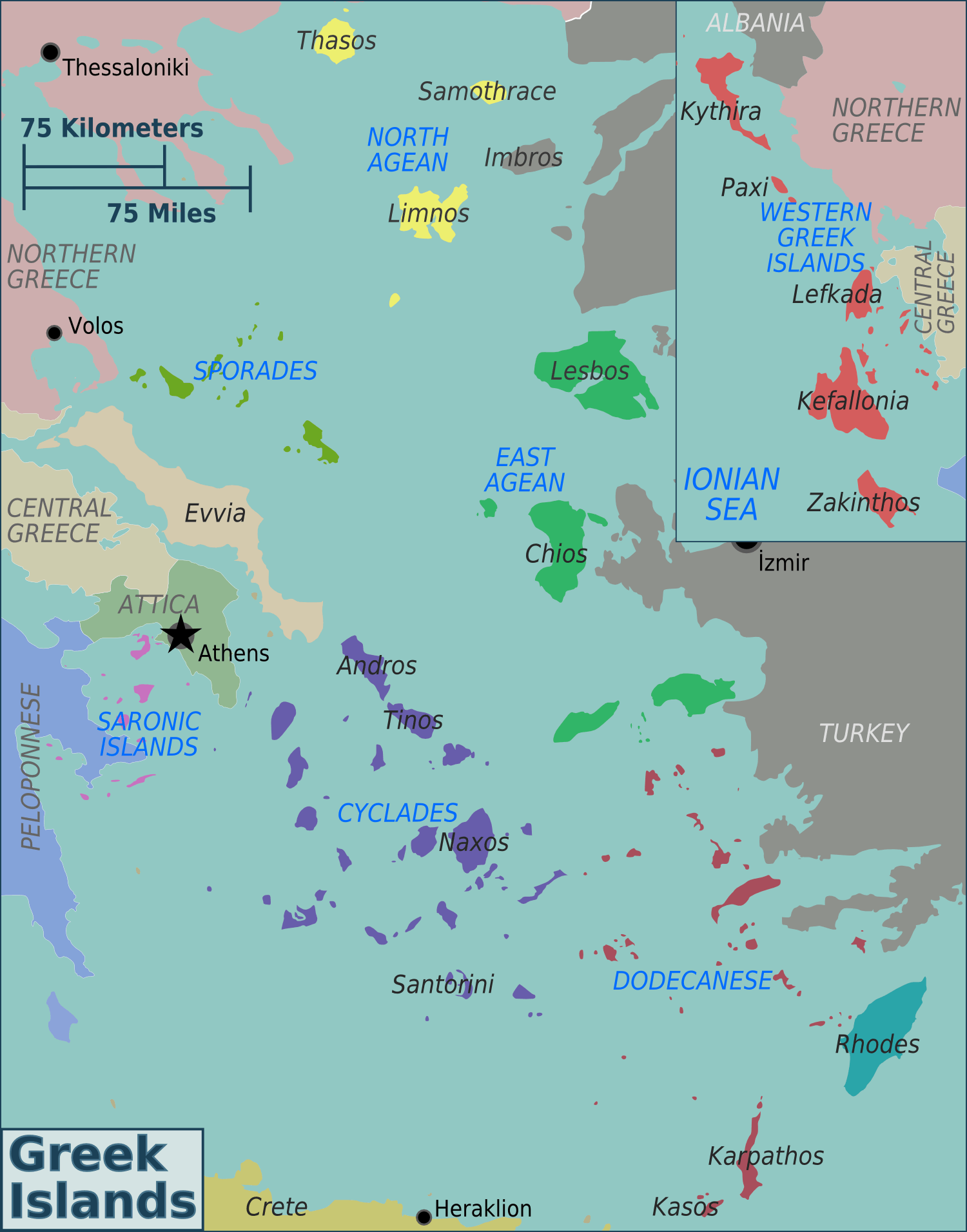 Map - Greece Family Vacation