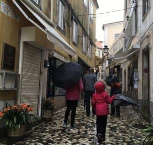 Cobblestone Streets in Lisbon