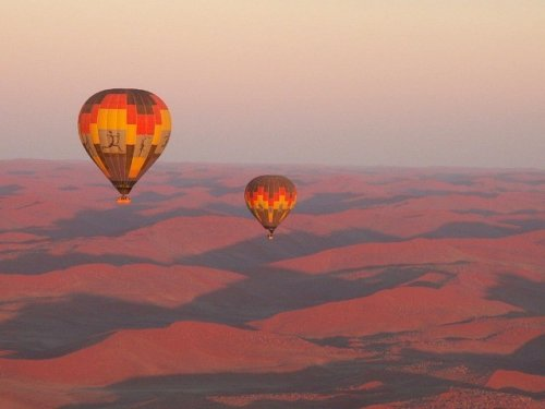 Hot Air Ballooning in Namibian Desert