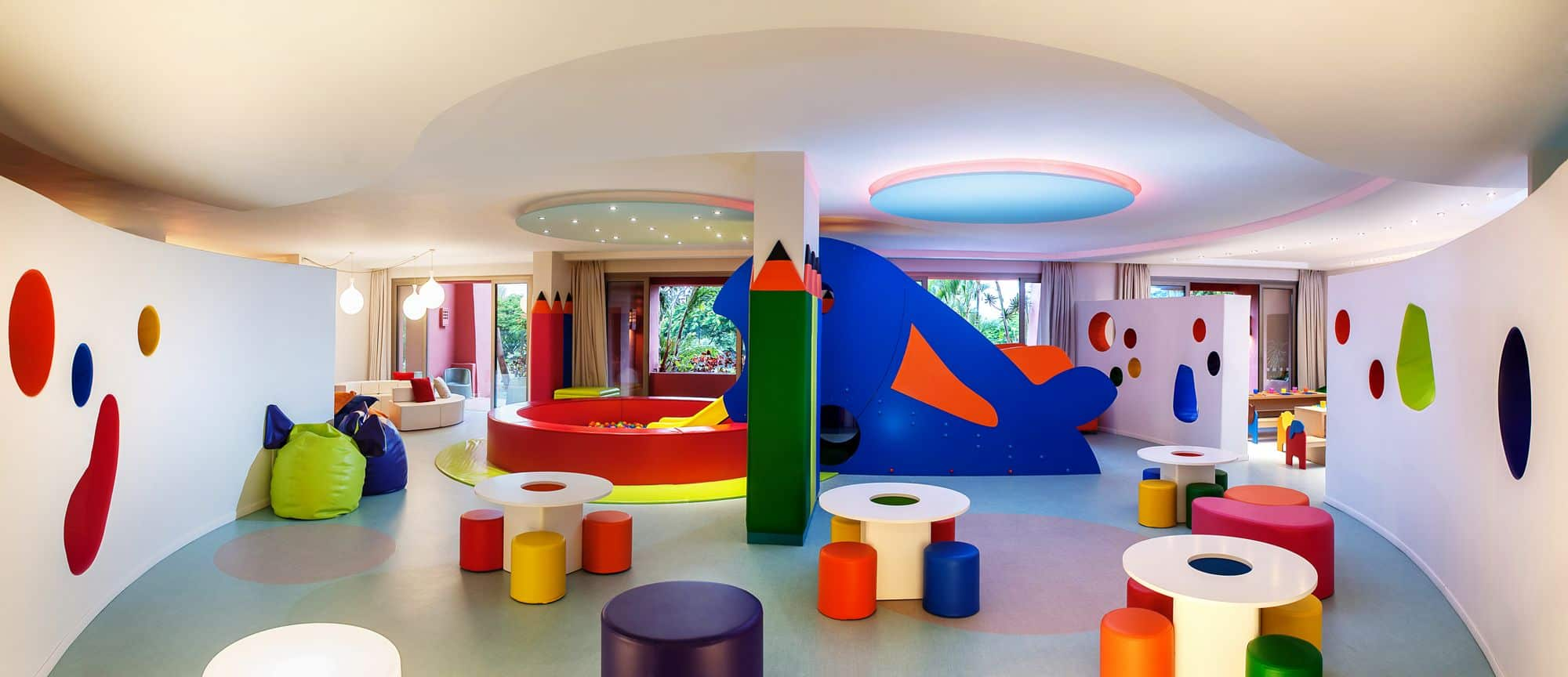 Colorful Indoor Play Area - Ritz Kids Club, Abama, Canary Islands