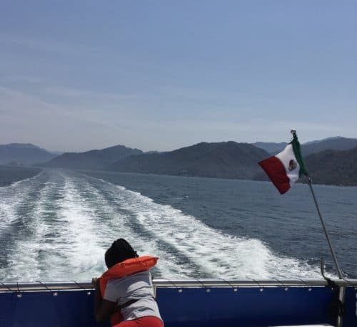 Boat ride along the coast - Jalisco, Mexico with Kids