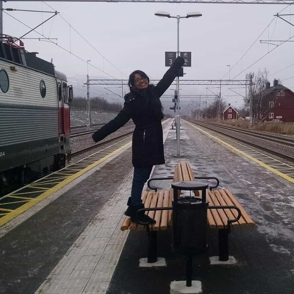 Snow at Railway Station - Chasing Northern Lights in Sweden!