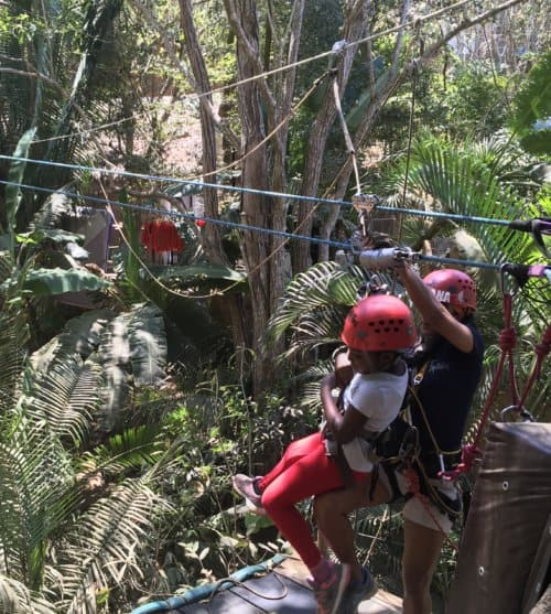 Zip lining through tree tops - Jalisco, Mexico with Kids