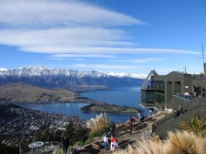 Queenstown from the Skyline gondola station
