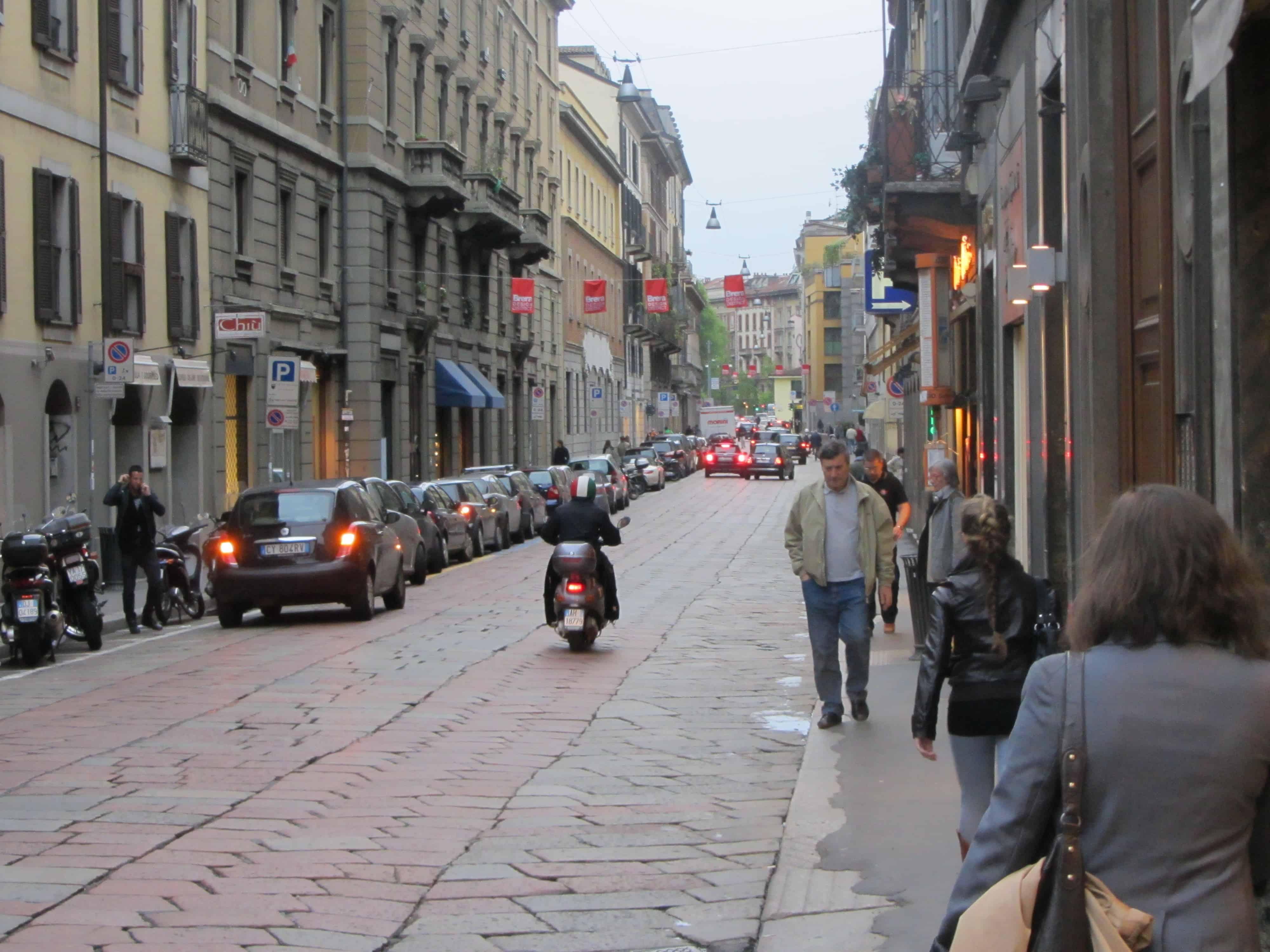 Streets of Quartiere Brera, Milan