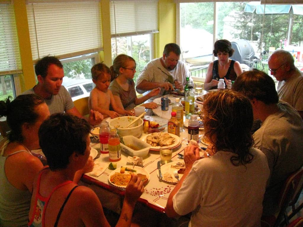 Family meal - How to Survive an Extended Family Vacation