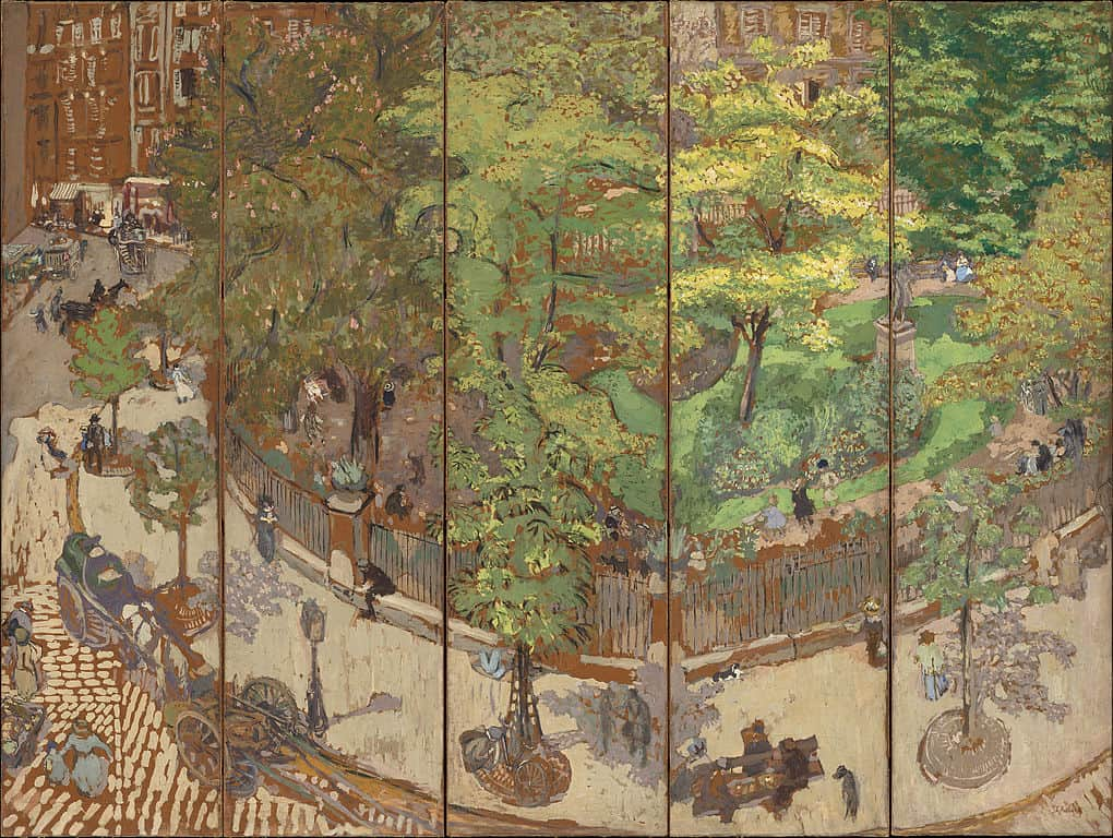 Vuillard's Painting of a Park in Paris
