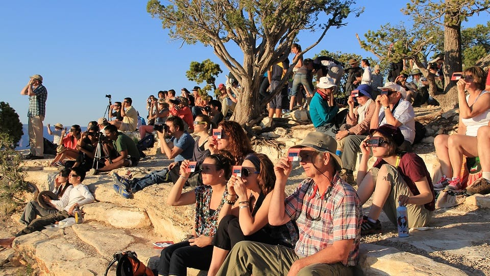 Crowds Watching the Eclipse