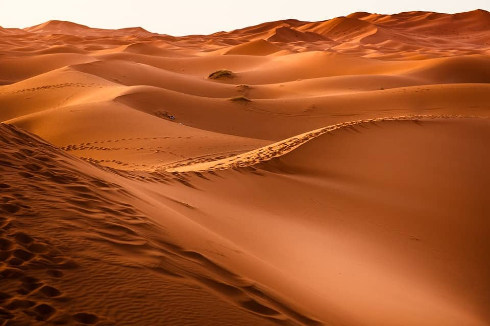 Saharan Sunset in Merzouga, Morocco