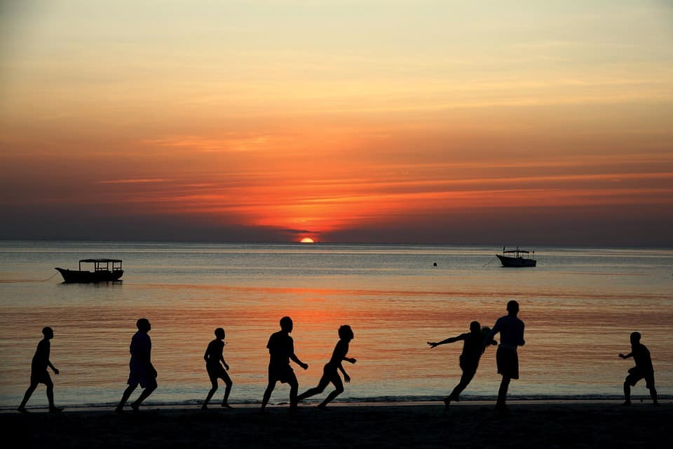 Kids playing at Zanzibar Beach