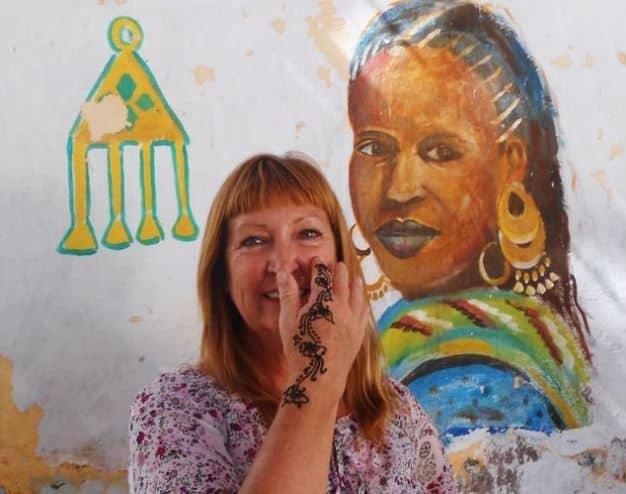 Henna Tattoo - Exploring Aswan, Upper Egypt