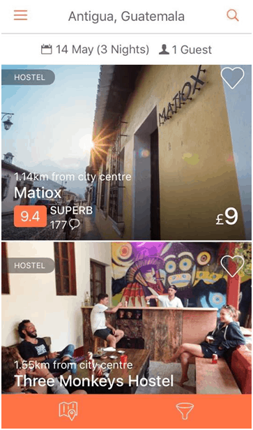 Hostelworld - Best Travel Apps for Your Next Trip