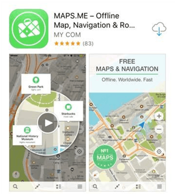 Maps.Me - Best Travel Apps for Your Next Trip