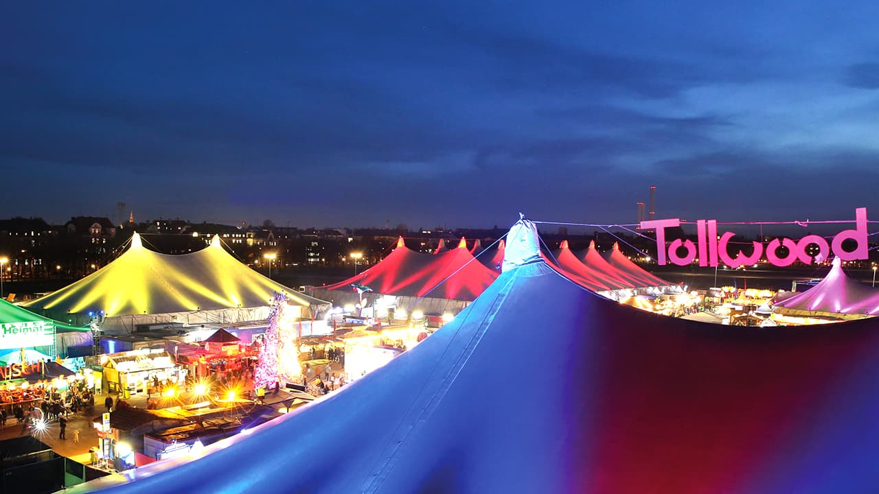 Tollwood Winter Festival in Theresienwiese Munich, Germany