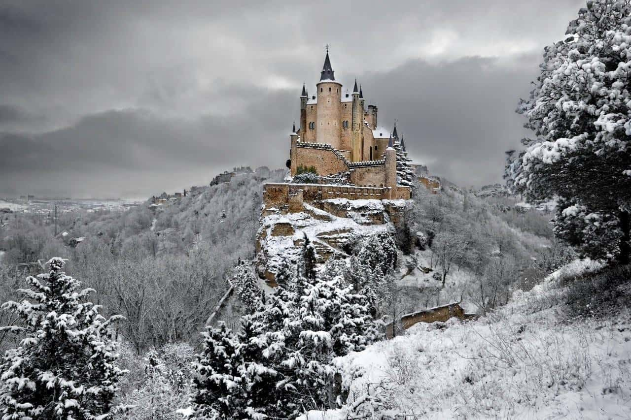 Alcazar de Segovia, Spain - Winter Wonderlands Around the World