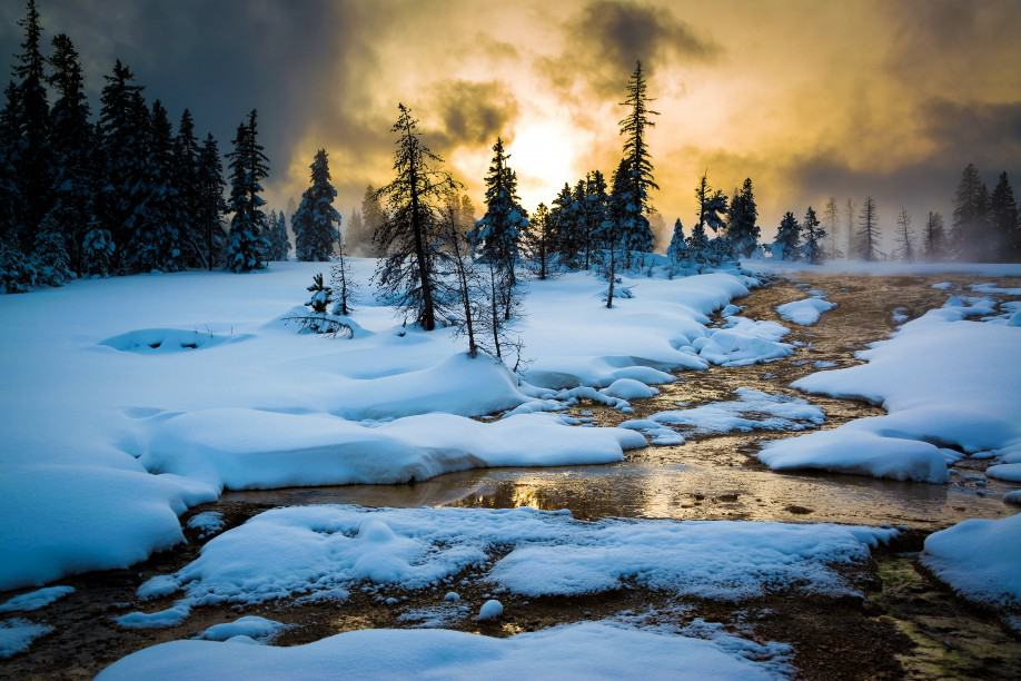 Yellowstone National Park - Unique Places to Celebrate the Winter Holidays