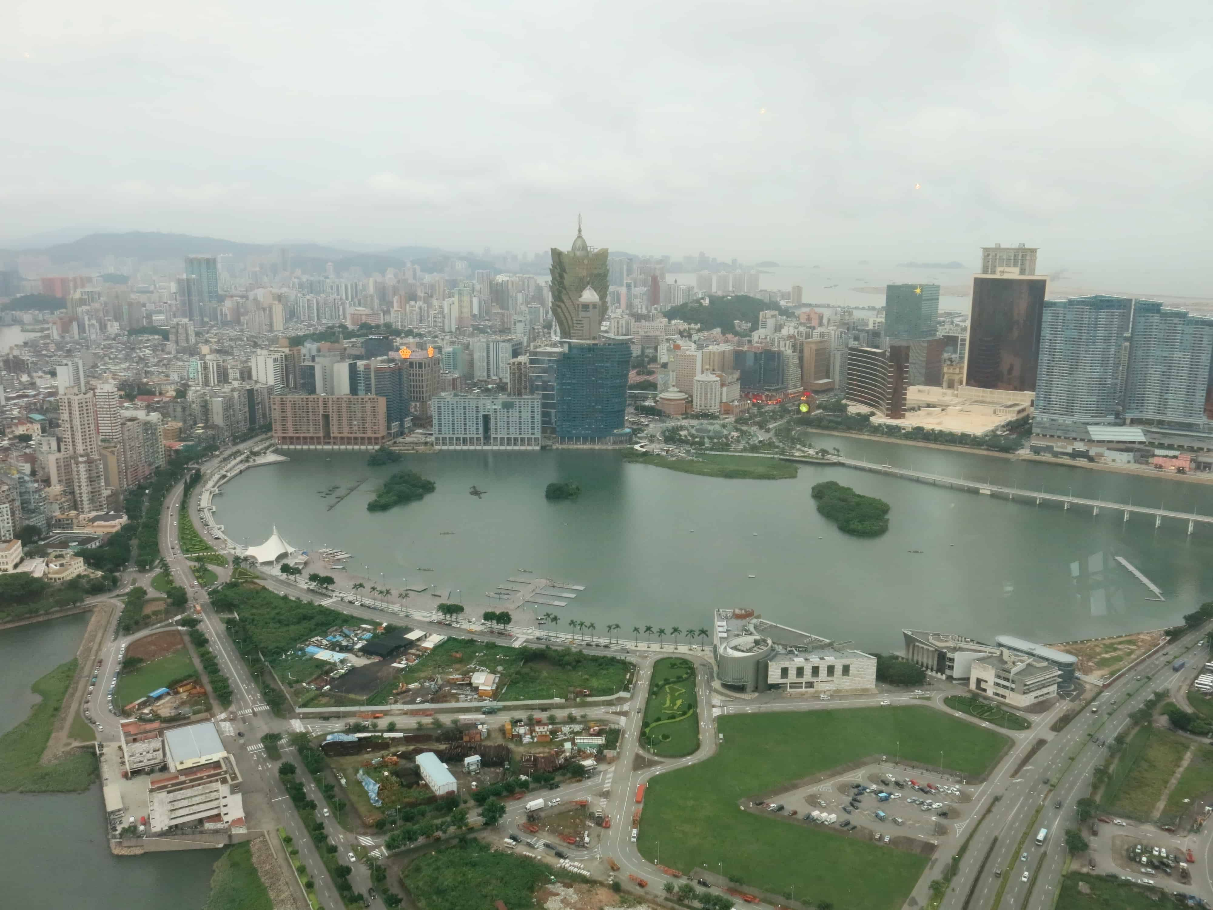 View of the City From Above the Macau Tower