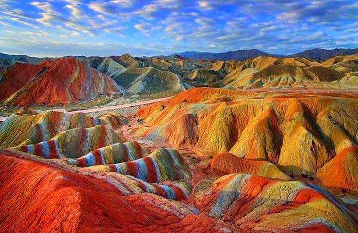 Zhangye Danxia Landform, China - Magical Places You Won't Believe Exist In The World