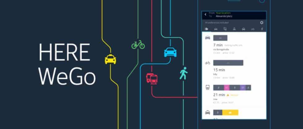 HERE WeGo Map App - Travel Must-haves for International Travel