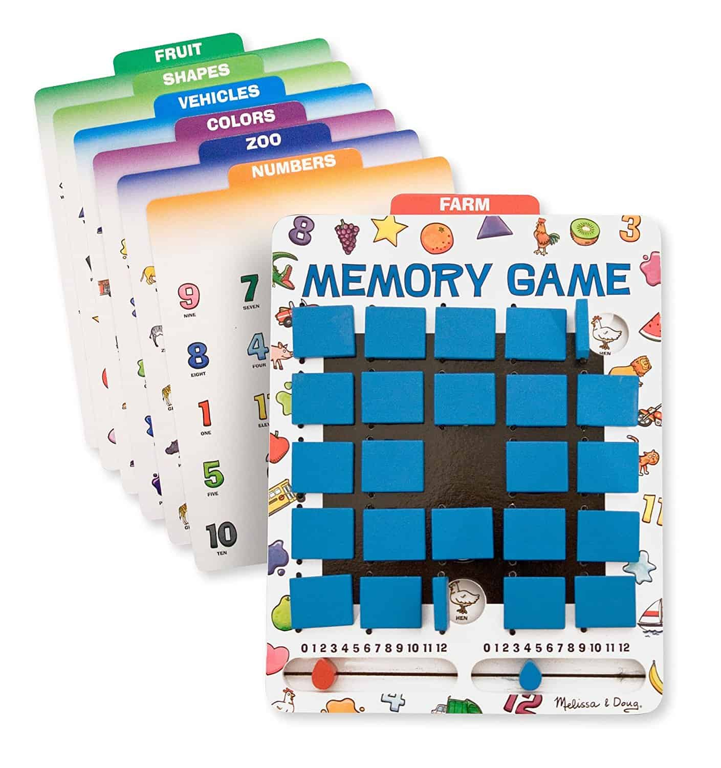 Melissa & Doug Flip to Win Travel Memory Game - Travel Games for Kids