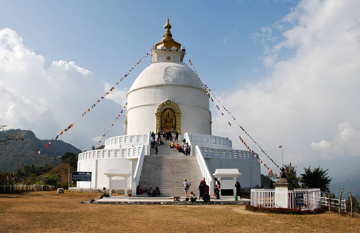World Peace Pagoda - Nepal With Kids