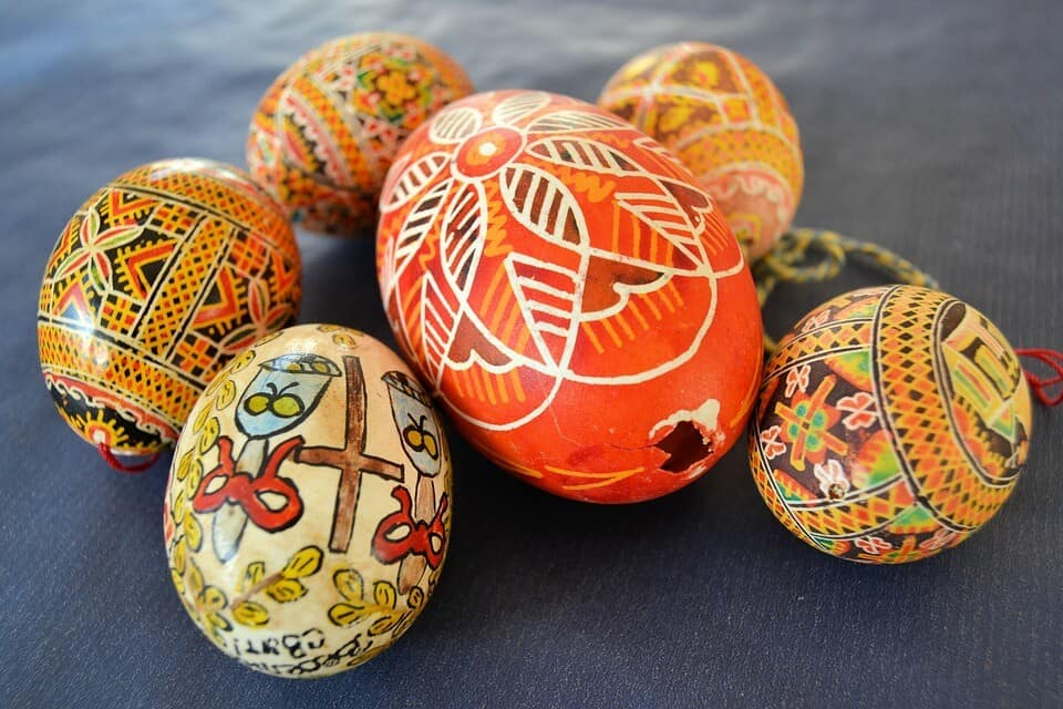 Decorated Easter Eggs - Kiev and Lviv, Ukraine with kids