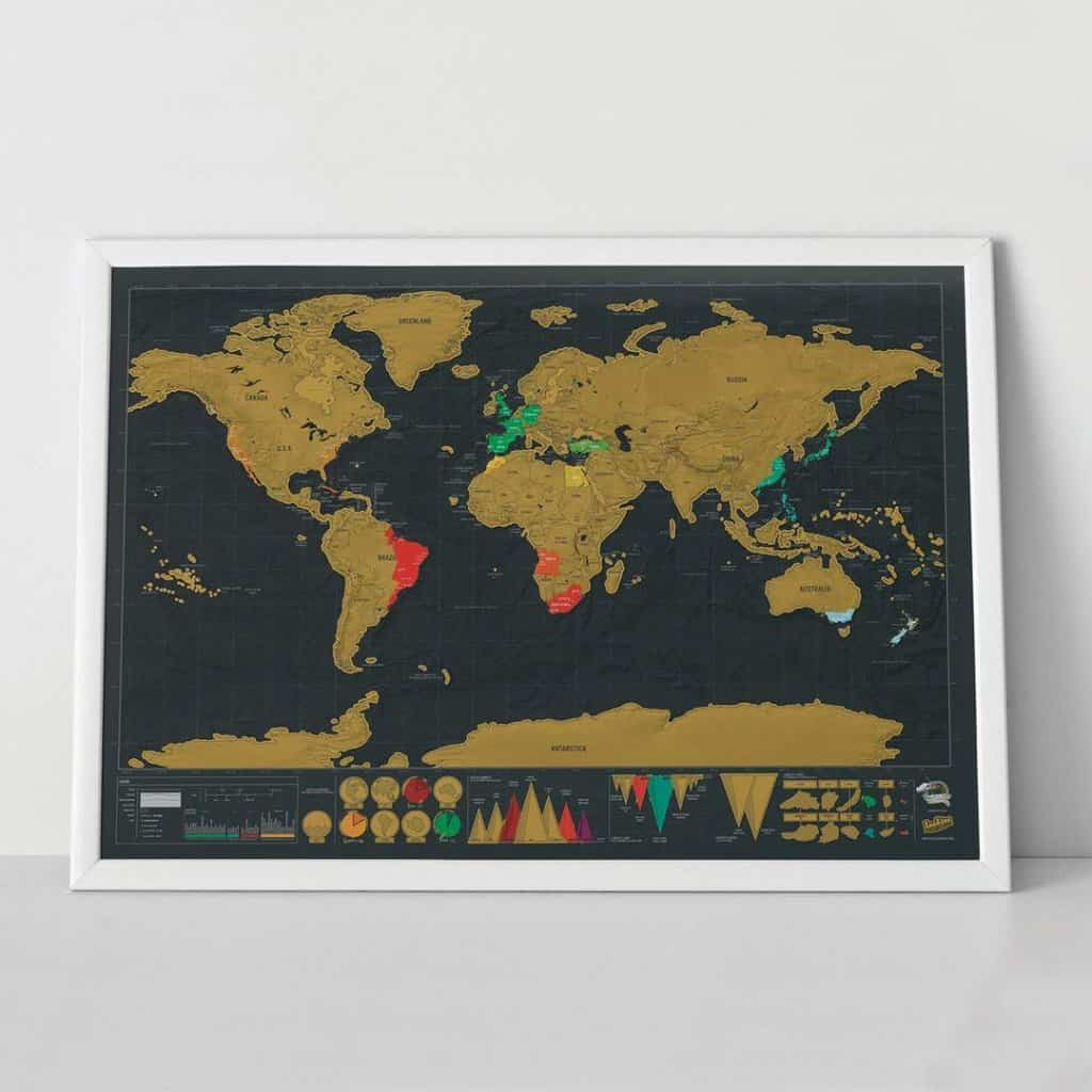 Scratch Map Deluxe - Gifts for Travelers
