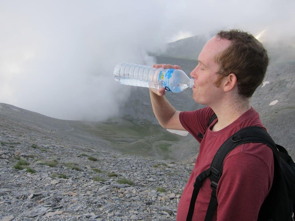 Drinking water - Altitude Sickness Prevention Tips