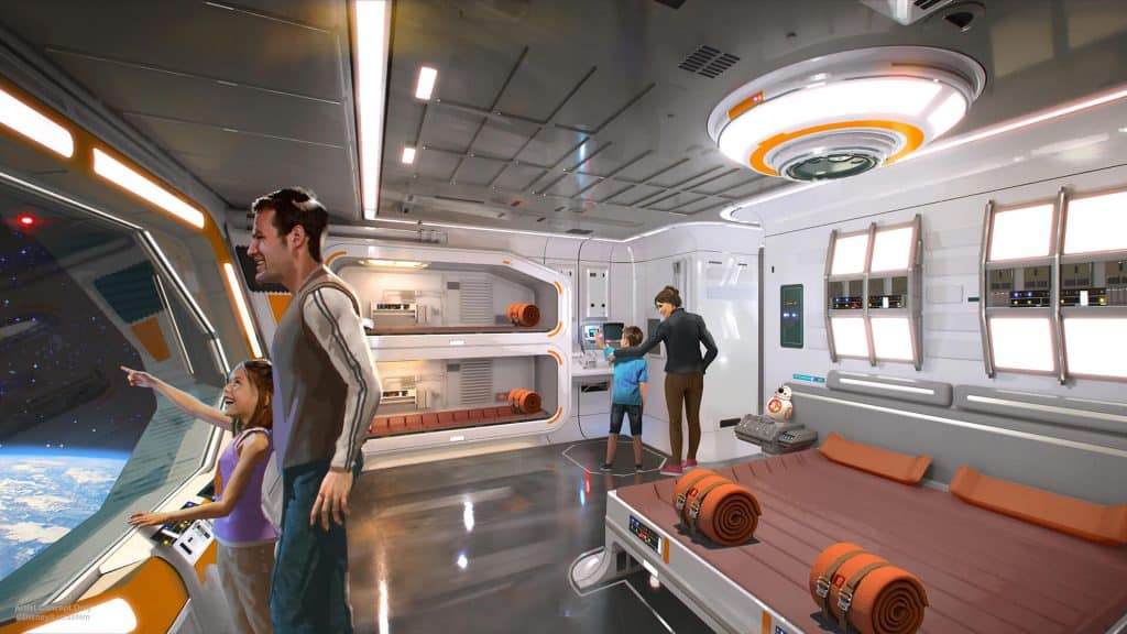 See Space from the Windows - Star Wars Hotel