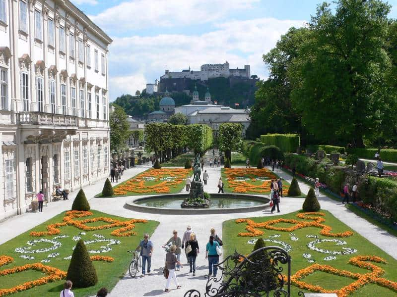 Mirabell Gardens - Visit Salzburg Austria with kids