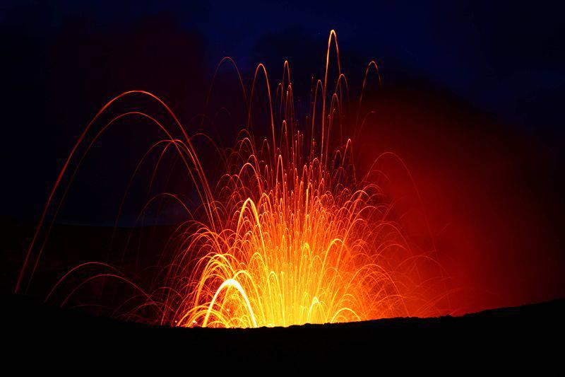 Volcano on Tanna Island Vanuatu