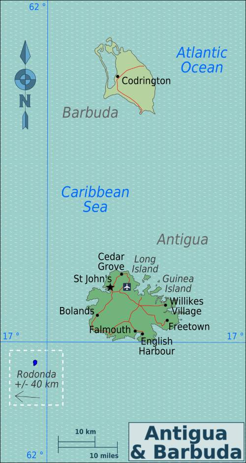 Antigua and Barbuda Map