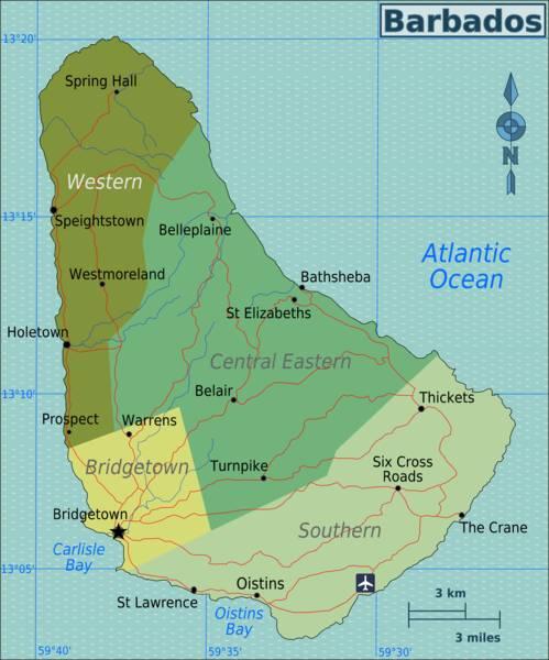 Barbados Map