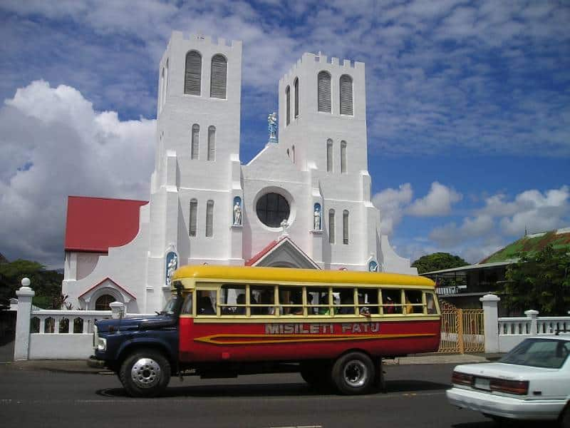 Samoa Colorful Bus - Best Things to Do in Western Samoa With Kids