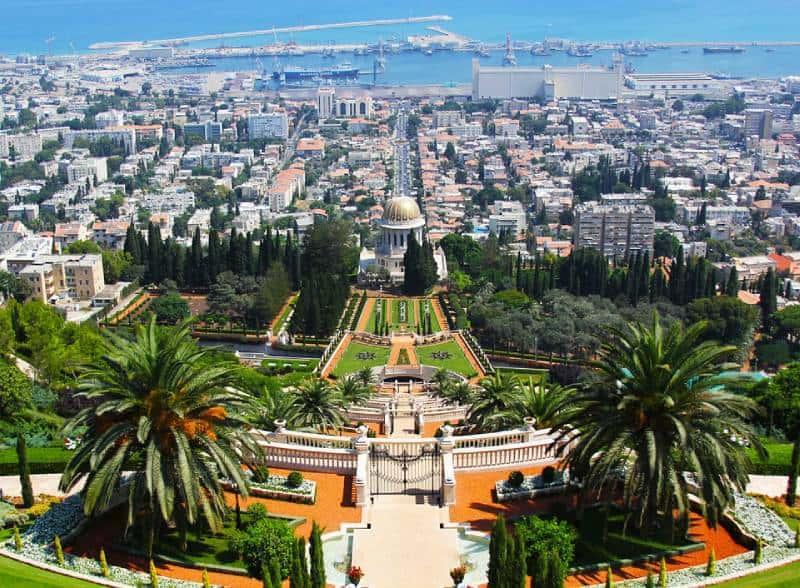 Hanging Gardens of Haifa - Israel With Family