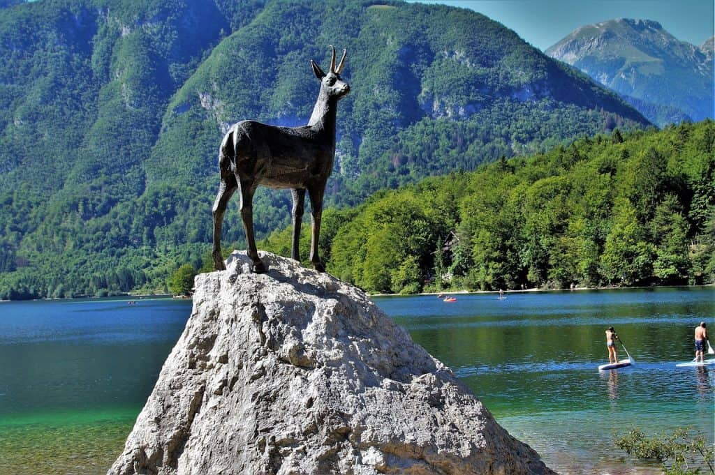 Zlatorog statue, Bohinj, Slovenia - Best European Cities to Travel with Kids