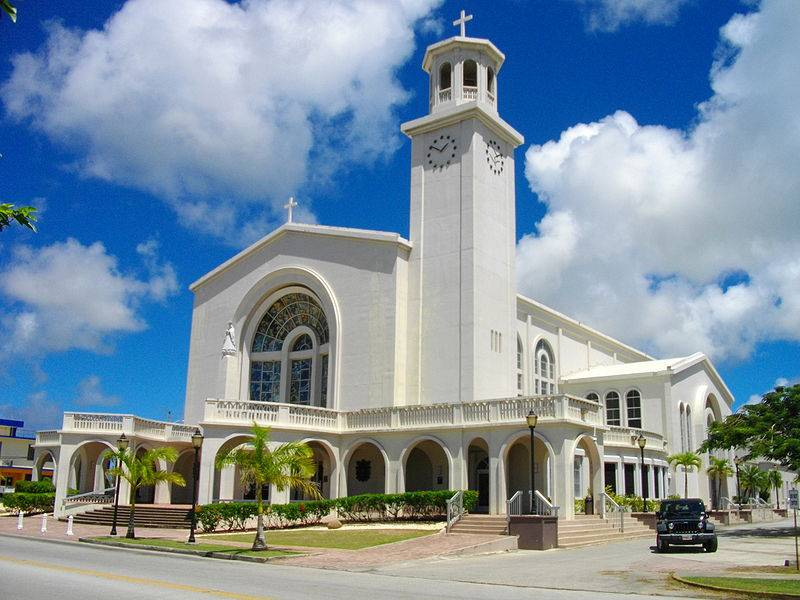 Dulce Nombre de Maria Cathedral Basilica - Family Trip to Guam