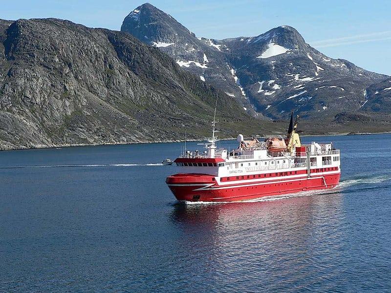 Ferry in Greenland
