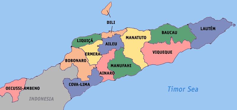 Timor-Leste map