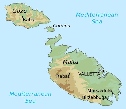 Comino Island map