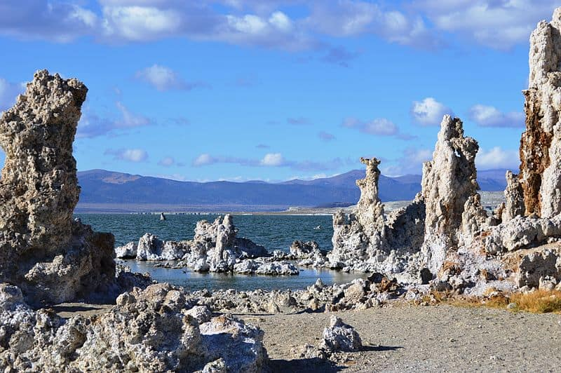 Mono Lake Tufa Swimming Lake