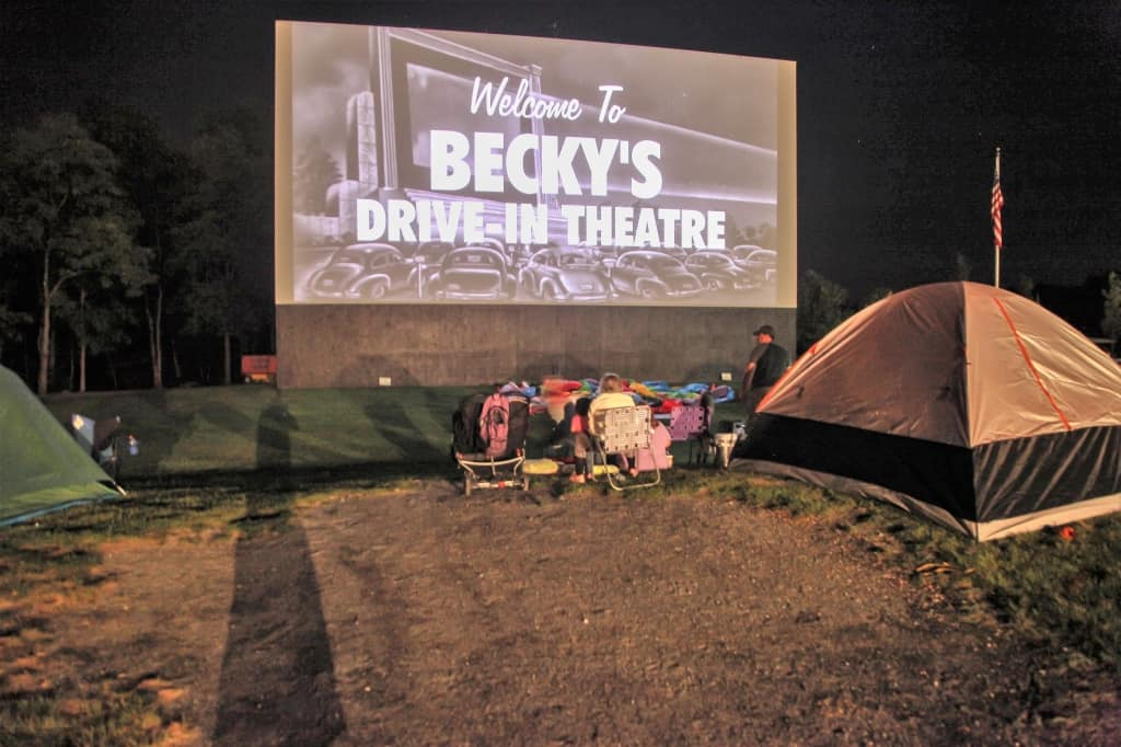 Becky's Drive-in Movie Theater in the USA