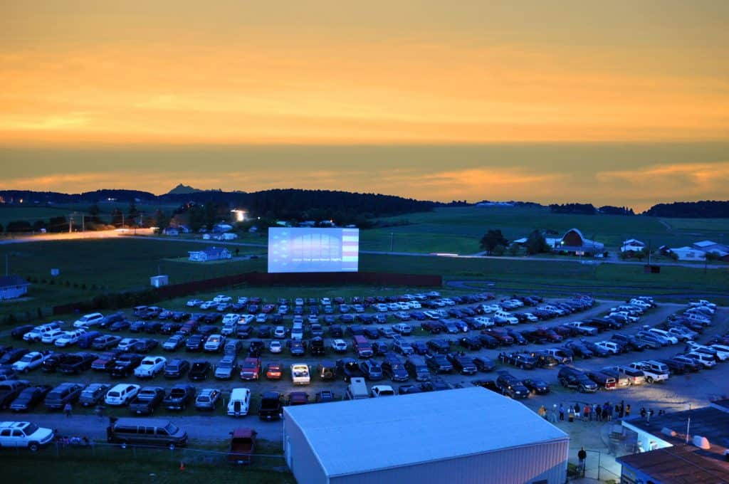 Blue Fox Drive-in Movie Theater in the USA