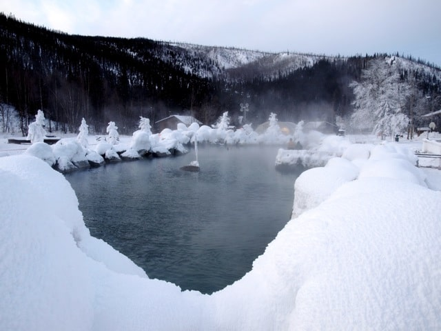 Chena Hot Springs in Alaska