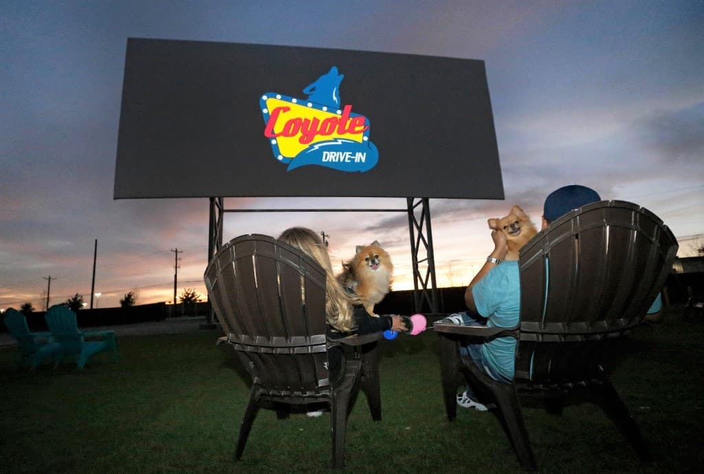 Coyote Drive-in Movie Theater in the USA