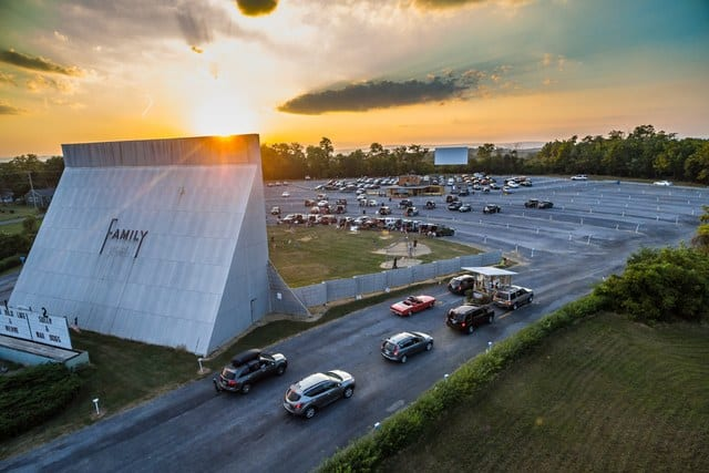Family Drive-in Movie Theater in the USA