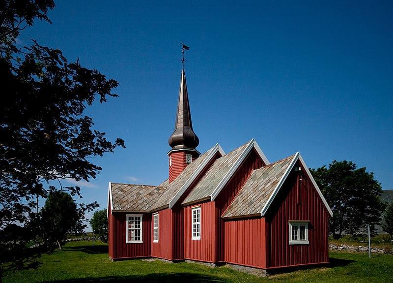 Flakstad Church - Traveling To Lofoten Islands, Norway
