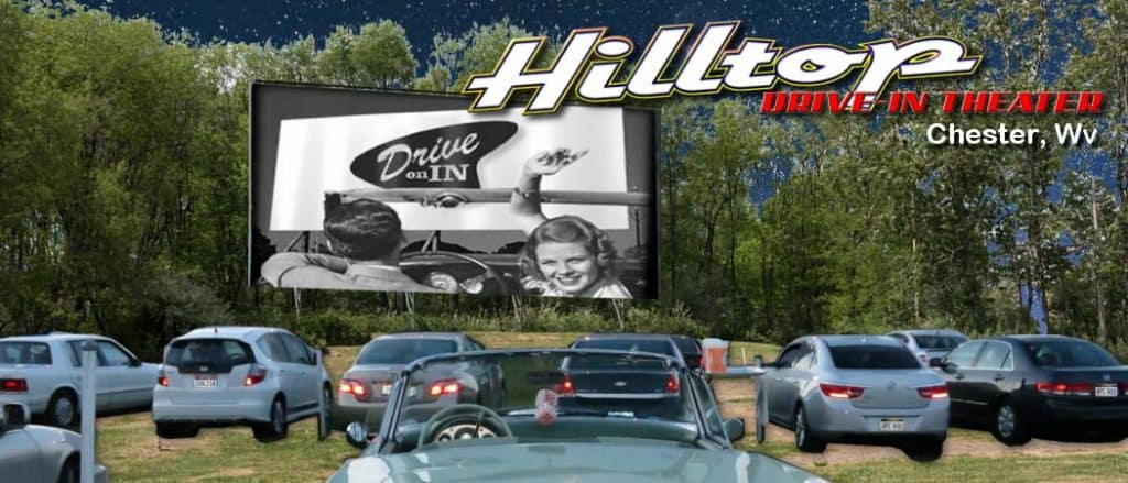 Hilltop Drive-in Movie Theater in the USA