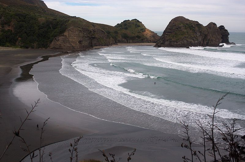 Piha Black Sand Beach in Auckland