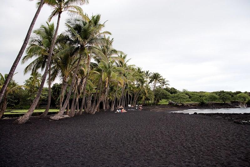 Punalu'u Beach - Black Sand Beach